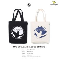 Mark Gonzales BAG5 CIRCLE ANGEL LOGO ECO BAG TOTE BAG 托特包 MG1902BG06