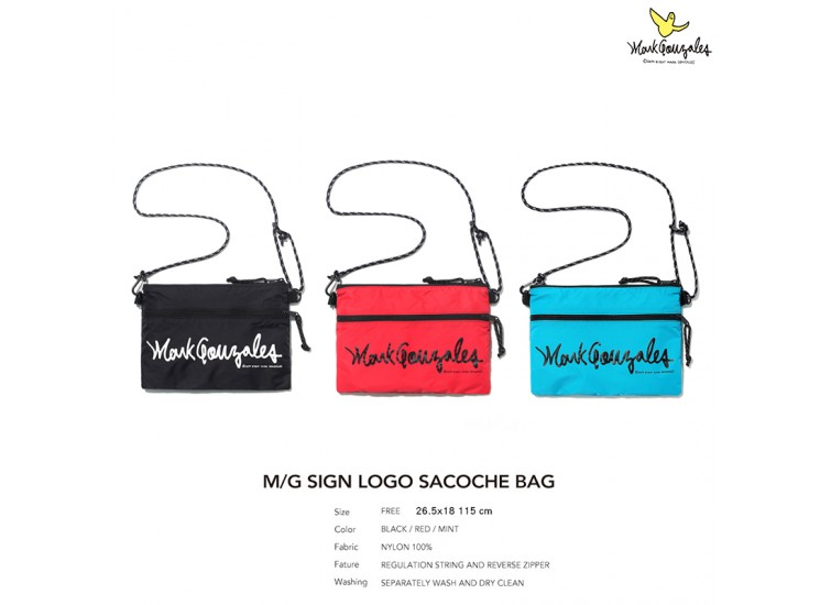 Mark Gonzales BAG9 SIGN LOGO SACOCHE BAG MG1901BG01