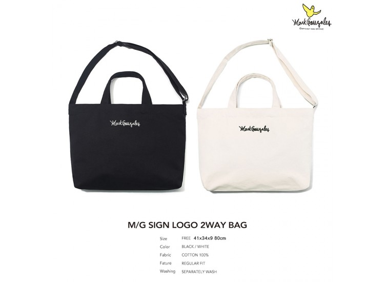 Mark Gonzales BAG7 SIGN LOGO 2WAY BAG TOTE TOTE BAG 托特包 MG1902BG01