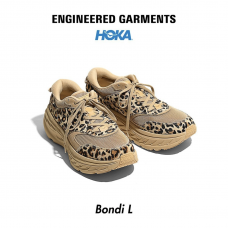 HOKA ONE ONE x Engineered Garments Bondi L - Sand Leopard Print