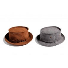 LESS - FLOCKING/HERRINGBONE PORK PIE HAT