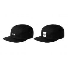 LESS - SQUARE LOGO CAMP CAP (BLACK/BLACK, BLACK/WHITE)
