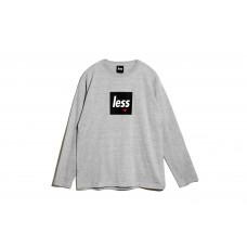 LESS - SQUARE LOGO LONG SLEEVE T-SHIRT