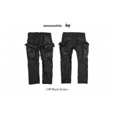 meanswhile x Less - Off Black Series - CARGO PANT