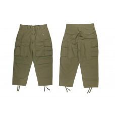 LESS - Multi Pocket Ripstop Pants - Olive