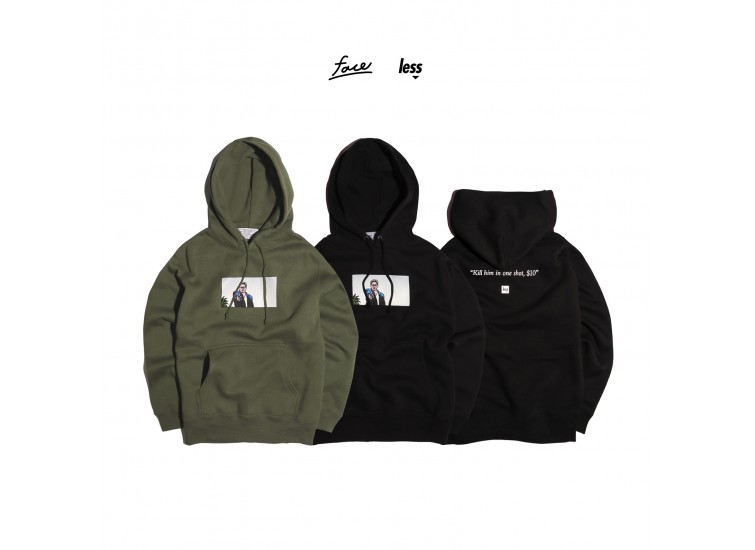 LESS x face - Takeshi Kitano-Brother Hoodie